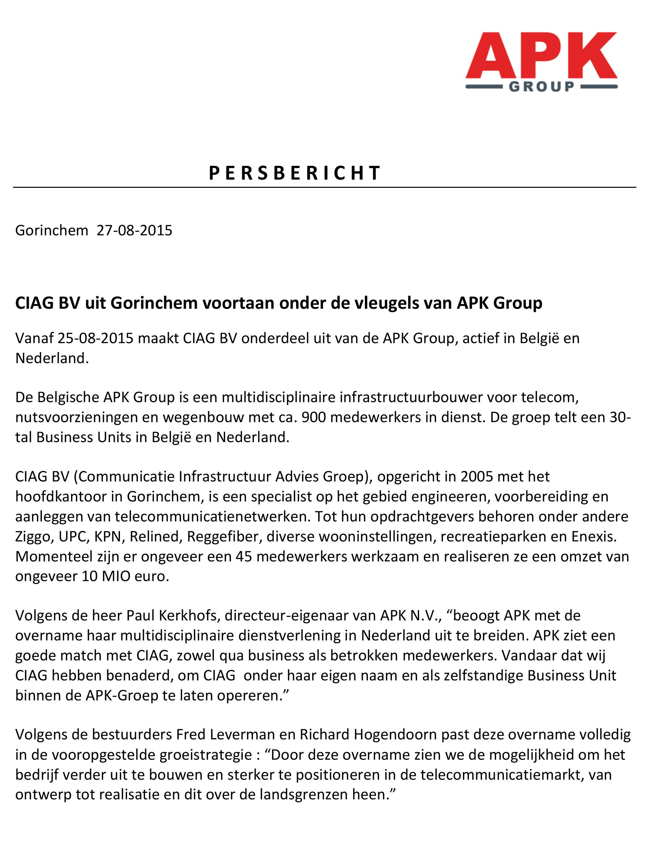 persbericht_150827 APK_CIAG